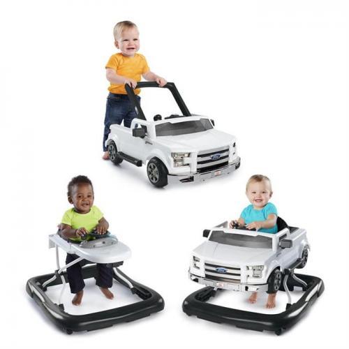 Bright Starts - Premergator si antepremergator 3 in 1 - Ford Alb - Plimbare bebe - Premergator copii