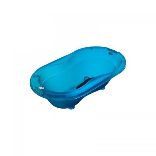 Cadita cu covoras antiderapant Top Translucent blue Rotho-babydesign - Igiena ingrijire - Cadita bebe