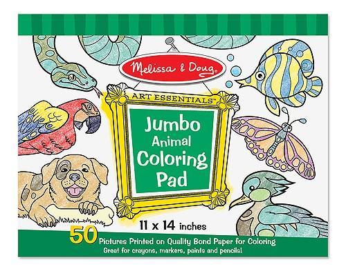 Caiet Jumbo Cu Planse Pentru Colorat Animale Melissa And Doug - Jucarii copilasi - Arta indemanare