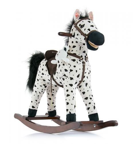 Calut Balansoar cu sunete si miscare Mustang Black Dot - Camera bebelusului - Calut balansoar