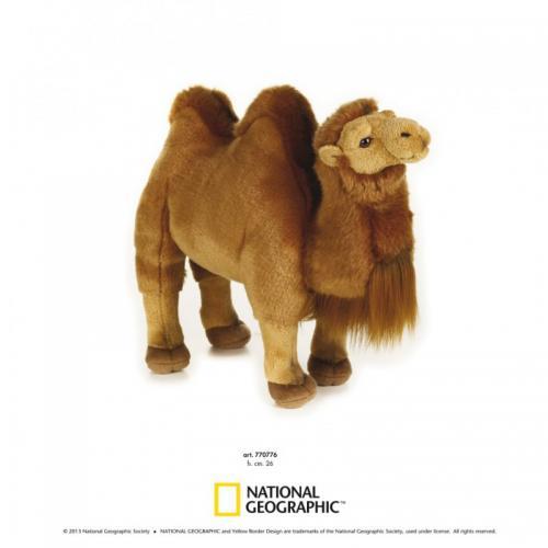Camila bactriana 26 cm-Jucarie din plus National Geographic - Jucarii copilasi - Jucarii din plus