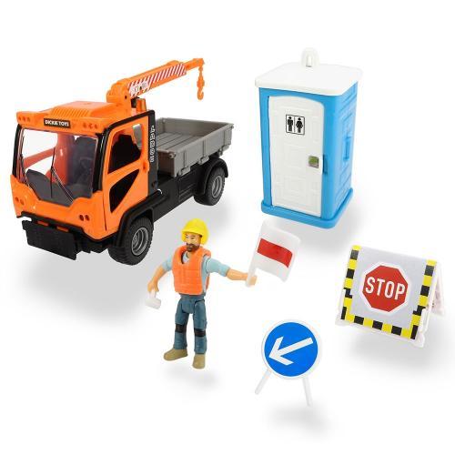 Camion Dickie Toys Playlife MT Ladog Service Set cu figurina si accesorii - Jucarii copilasi - Avioane jucarie