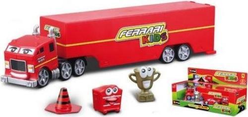 Camion Ferrari Kids scara 1:43 cu accesorii - Jucarii copilasi - Avioane jucarie