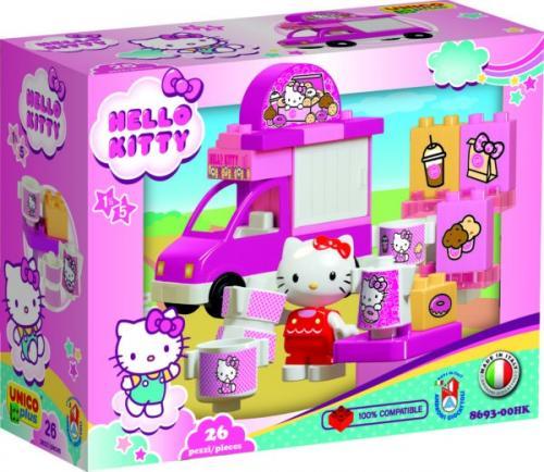 Camion inghetata Hello Kitty Unico 26 piese - Jucarii copilasi - Jucarii de constructie