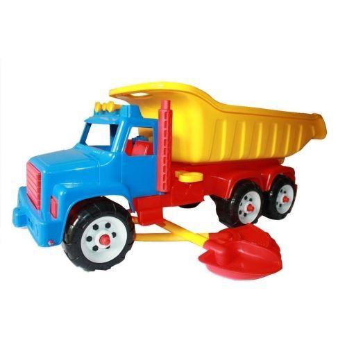 Camion Jumbo cu lopatica si grebla - Jucarii copilasi - Plaja si nisip