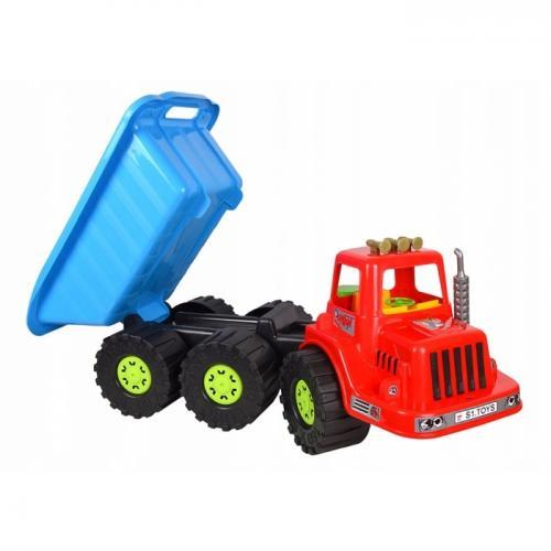 Camion pentru copii marmat xxl - cabina rosie - Jucarii copilasi - Avioane jucarie
