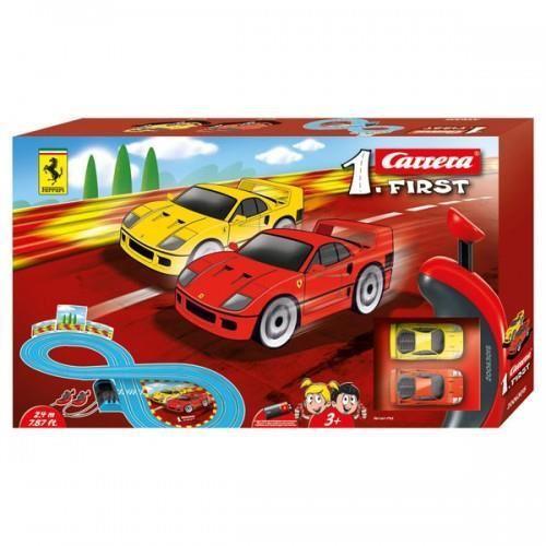 Carrera FIRST Slot Set masinute si pista Ferrari 1:43 - Jucarii copilasi - Avioane jucarie