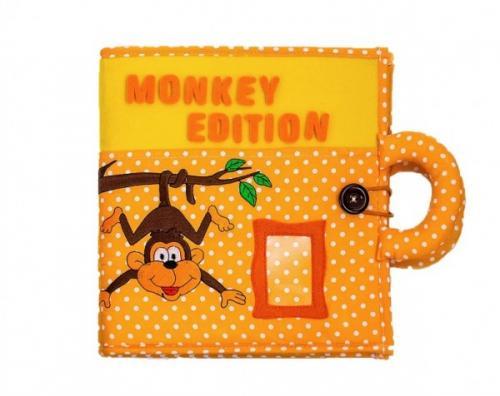 Carticica cu activitati Piqipi - Quiet book Monkey Edition - Carti  -