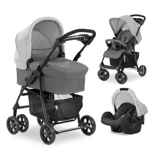 Carucior 3in1 Hauck Shopper Trioset Grey - Carucior bebe - Carucioare 3 in 1