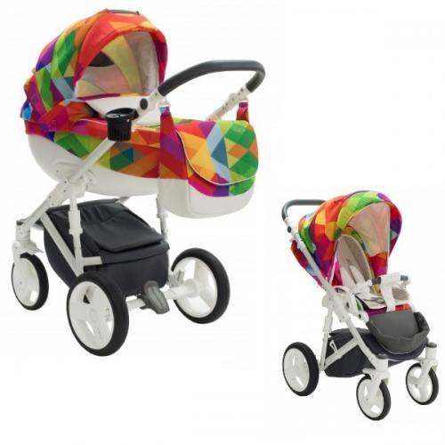 Carucior copii 2 in 1 bexa cube rainbow - Carucior bebe - Carucioare 2 in 1