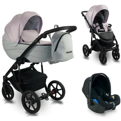 Carucior copii 3 in 1 - reversibil - 0-36 luni - bexa ideal 2020 blush - Carucior bebe -