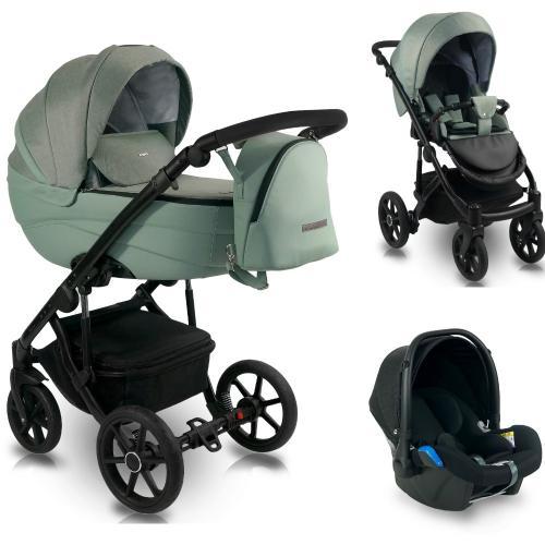 Carucior copii 3 in 1 - reversibil - 0-36 luni - bexa ideal 2020 celadon - Carucior bebe -