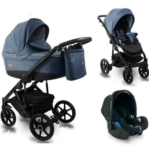 Carucior copii 3 in 1 - reversibil - 0-36 luni - bexa ultra 20 denim - Carucior bebe -