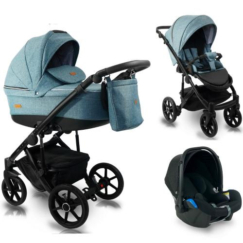 Carucior copii 3 in 1 - reversibil - 0-36 luni - bexa ultra 20 smarald - Carucior bebe -