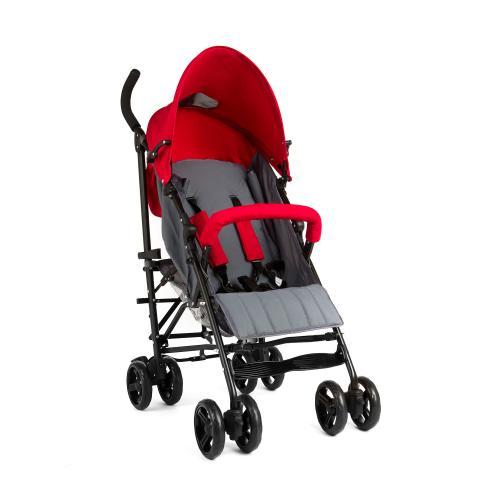 Carucior Juju Little Traveler - Rosu-Gri - Carucior bebe - Carucioare sport
