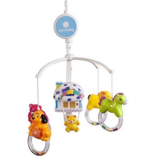 Carusel muzical sun baby 012 cu lampa - sunete si jucarii - Carusele muzicale -