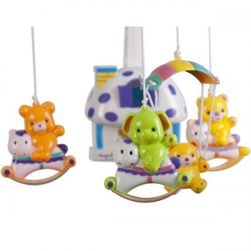 Carusel muzical sun baby 013 cu lampa - sunete si jucarii - Carusele muzicale -
