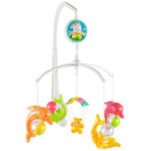 Carusel muzical sun baby 017 cu delfini - Carusele muzicale -