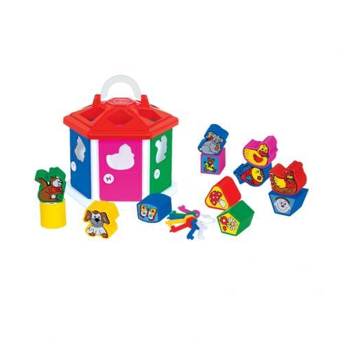 Casuta cu activitati pentru bebelusi (2 culori) - Cavallino - Jucarii bebelusi -