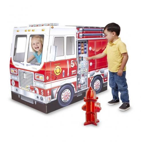 Casuta din carton Camionul de pompieri Melissa and Doug - Jucarii copilasi -