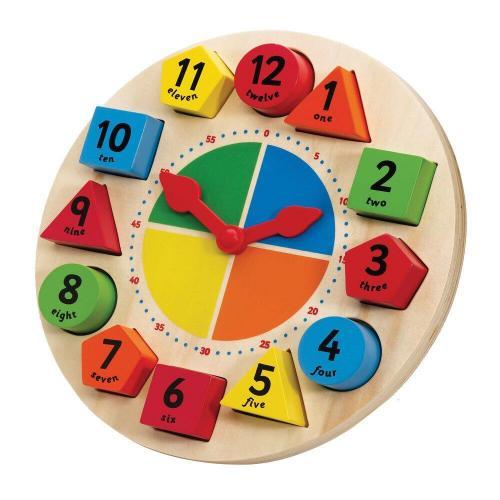 Ceas magnetic cu forme geometrice - Jocuri pentru copii - Jocuri cu puzzle