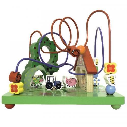 Centru de activitati din lemn Ferma Smily Play - Carusele muzicale - Centre activitate
