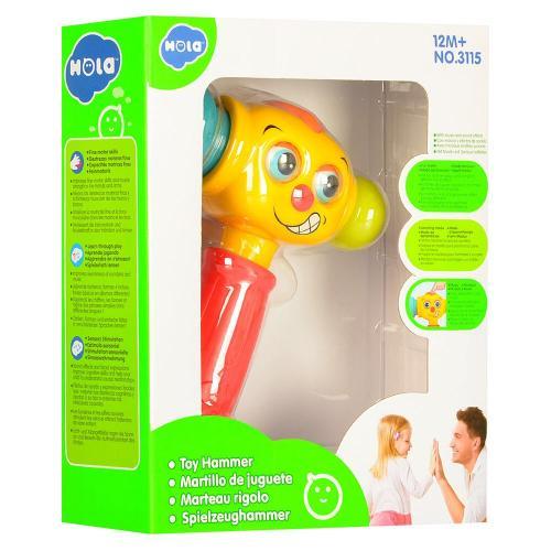 Ciocan interactiv si educativ cu lumini si sunete - Jucarii bebelusi -