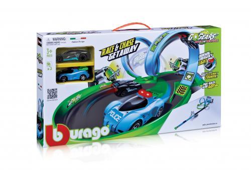 Circuit Auto Go Gears Race&chase Cu 2 Masinute - Jucarii copilasi - Avioane jucarie
