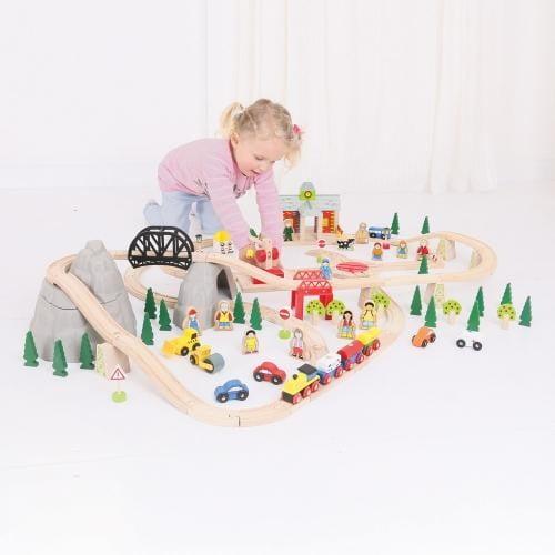 Circuit Feroviar (112 Piese) - Jucarii copilasi - Jucarii educative bebe