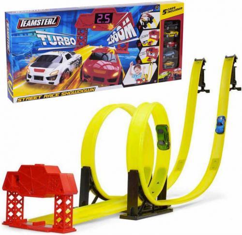 Circuit Teamsterz cu 2 bucle si 5 masini - Jucarii copilasi - Avioane jucarie