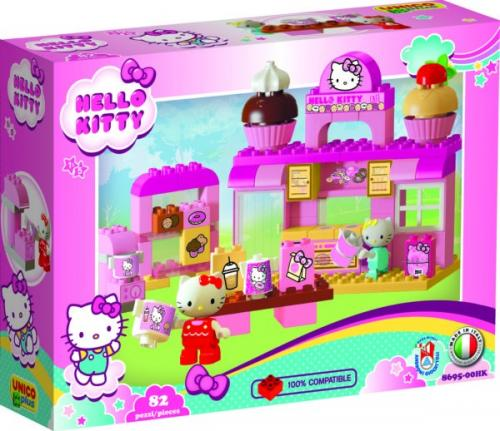 Cofetarie Hello Kitty Unico 82 piese - Jucarii copilasi - Jucarii de constructie