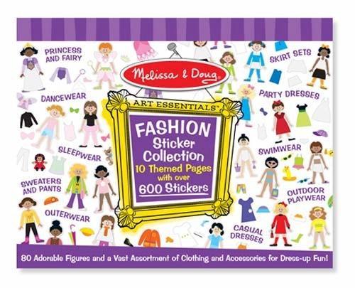 Colectia de abtibilduri Parada de moda Melissa and Doug - Jucarii copilasi - Arta indemanare