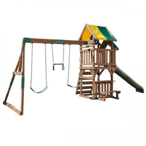 Complex de joaca Arbor Crest Deluxe Kidkraft - Jucarii exterior - Complex de joaca
