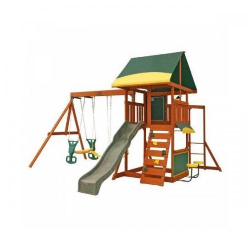 Complex de joaca Brookridge cu leagane Kidkraft - Jucarii exterior - Complex de joaca