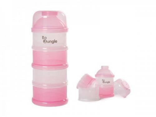 Containere roz lapte praf BO Jungle cu 4 compartimente - Hrana bebelusi - Accesorii alimentare