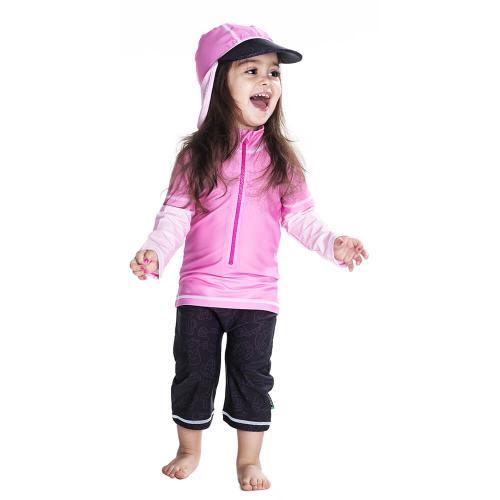 Costum De Baie Pink Ocean Marime 98- 104 Protectie Uv Swimpy - Echipament inot -