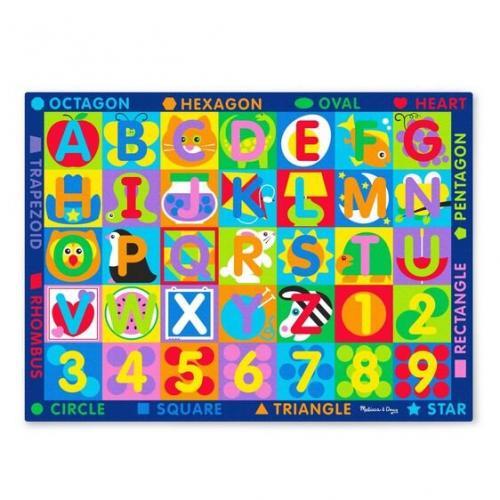 Covor de joaca Litere si forme geometrice - Melissa & Doug - Jucarii copilasi -