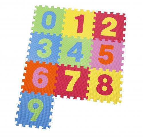 Covor puzzle din spuma Numbers 10 piese - Jucarii copilasi -