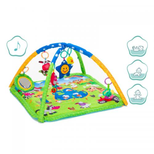 Covoras de joaca cu activitati - Farm - 70x80 cm Fillikid - Camera bebelusului - Saltea de joaca