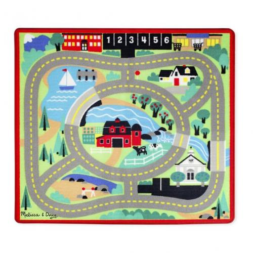 Covoras de joaca cu masinute Circuitul - Melissa & Doug - Jucarii copilasi -