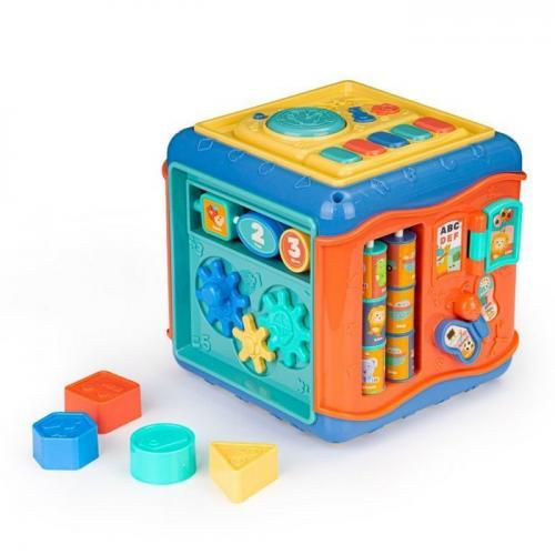 Cub educational cu led si sunete ecotoys hc485016 - Jucarii copilasi - Jucarii educative bebe