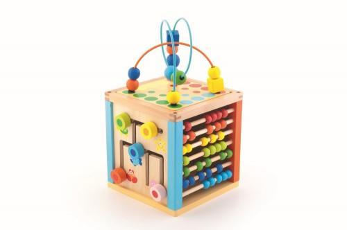 Cub mare educativ din lemn - Jucarii Montessori -