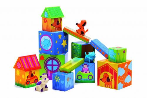 Cuburi de construit cu animale cubanimo djeco - Jucarii bebelusi -