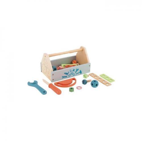 Cutie cu unelte din lemn ecotoys tl80013 - Jucarii Montessori -