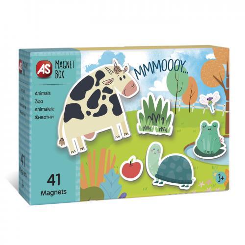 Cutie magnetica animale cu 41 de piese - Jocuri pentru copii - Jocuri societate