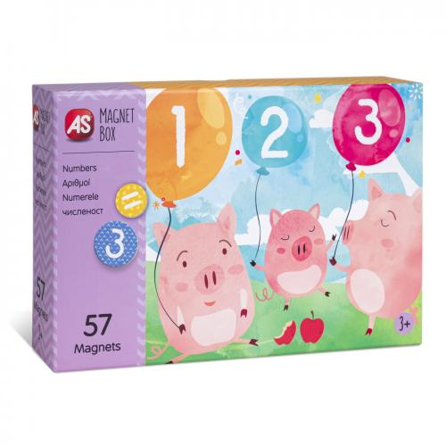 Cutie magnetica invata numerele cu 57 de piese - Jocuri pentru copii - Jocuri societate