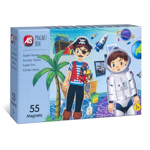 Cutie magnetica super eroi cu 55 de piese - Jocuri pentru copii - Jocuri societate