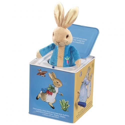 Cutie muzicala jack-in-the-box - peter rabbit - 29 cm - Jucarii bebelusi - Jucarie muzicala