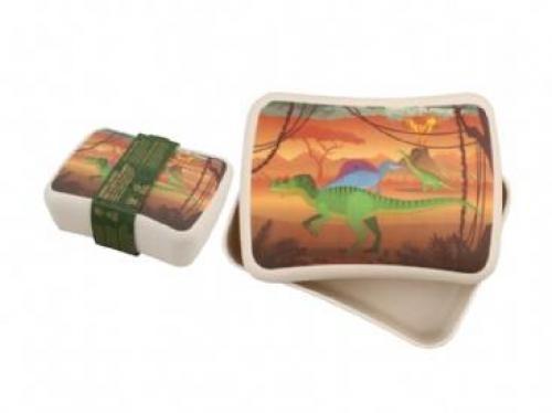 Cutie pentru pranz din bambus - Dinozaur - Hrana bebelusi - Accesorii alimentare