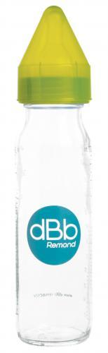 "dBb Remond - Biberon sticla 240 ml - ""Regul' Air"" - tetina anticolici din silicon NN 0-4 luni (verde) - Hrana bebelusi - Biberoane"